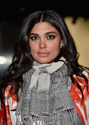 Rachel Roy wore her hair with a center part and lovely waves at the Zimmermann fashion show.