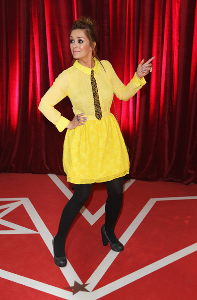 Zoe Henry Novelty Tie [fashion,talent show,performance,event,footwear,fashion design,flooring,performing arts,carpet,fashion model,red carpet arrivals,zoe henry,british soap awards,manchester,england,media city]