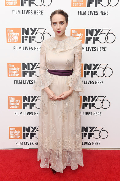 Zoe Kazan Lace Dress [the ballad of buster scruggs,red carpet,clothing,dress,carpet,fashion model,hairstyle,premiere,flooring,fashion,gown,arrivals,zoe kazan,screening,lincoln center,new york city,alice tully hall,new york film festival]
