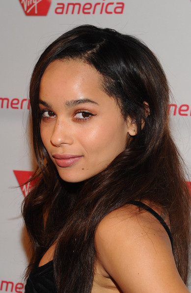 Zoe Kravitz Long Straight Cut