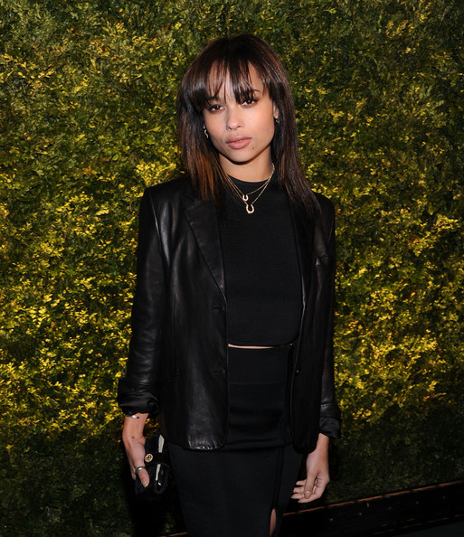 Zoe Kravitz Medium Straight Cut with Bangs