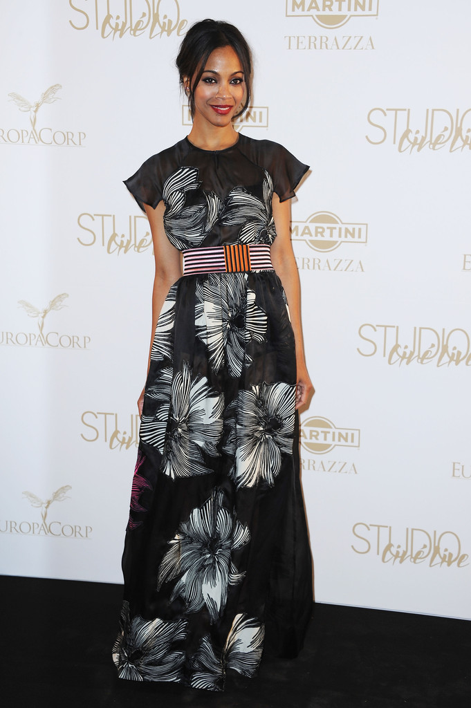 Zoe Saldana Evening Dress Zoe Saldana Looks Stylebistro