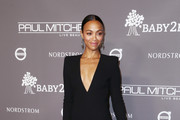 Zoe Saldana Form-Fitting Dress