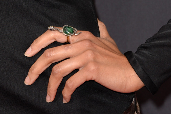 Zoe Saldana Gemstone Ring
