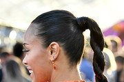 Zoe Saldana Long Braided Hairstyle