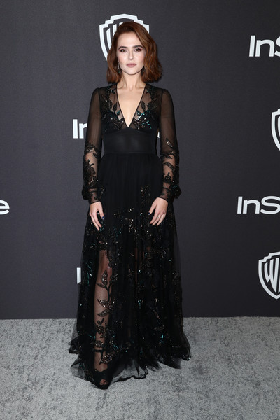 Zoey Deutch Sequin Dress [clothing,dress,fashion model,fashion,hairstyle,carpet,gown,premiere,long hair,fashion design,zoey deutch,beverly hills,california,the beverly hilton hotel,instyle,golden globes,warner bros.,arrivals,party]