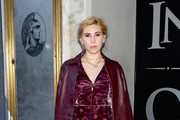 Zosia Mamet Leather Coat