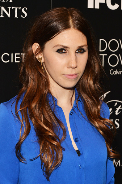Zosia Mamet Long Wavy Cut [aint them bodies saints,the cinema society host a screening of ifc films,hair,face,hairstyle,eyebrow,brown hair,lip,long hair,hair coloring,beauty,chin,calvin klein,zosia mamet,screening,downtown,new york city,ifc films,the cinema society,museum of modern art]
