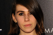 Zosia Mamet Side Parted Straight Cut