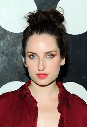 Zoe Lister showed off one of the seasons best hairstyles, the top knot.