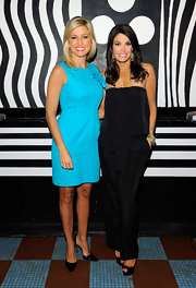 Kimberly Guilfoyle looked super chic in a strapless black jumpsuit at the Alice + Olivia M.A.C. collection launch.