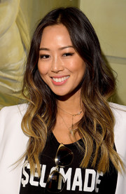 Aimee Song looked hip with her ombre waves at the Alice + Olivia presentation.