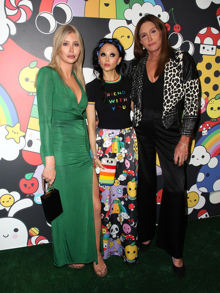More Pics of Caitlyn Jenner Beaded Purse (3 of 15) - Evening Bags Lookbook - StyleBistro [event,style,fashion design,stacey bendet,caitlyn jenner,sophia hutchins,l-r,hollywood athletic club,hollywood,california,alice olivia,friendswithyou collection la launch party,launch party]