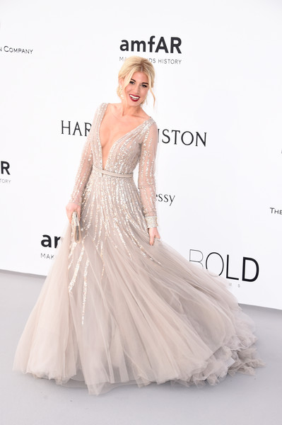 Hofit Golan brought some fairytale glamour to the amfAR Cinema Against AIDS Gala in this magical gray gown.