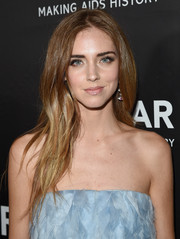 Chiara Ferragni looked oh-so-pretty with her long layered hairstyle at the amfAR Inspiration LA Gala.