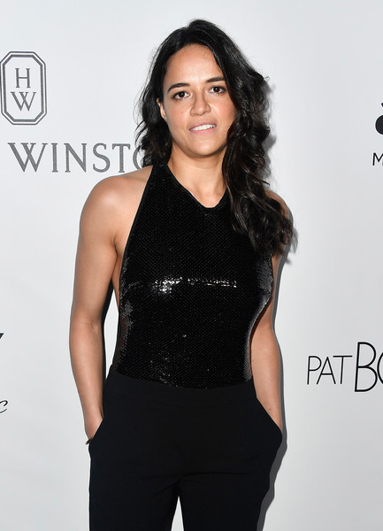 More Pics of Michelle Rodriguez Long Curls (1 of 4) - Michelle Rodriguez Lookbook - StyleBistro