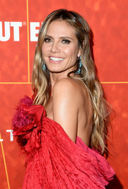 Heidi Klum was a boho beauty with her long wavy 'do at the amfAR Gala Los Angeles 2018.