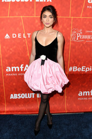 Sarah Hyland attended the amfAR Gala Los Angeles 2018 looking like a ballerina in this two-tone tutu dress by Philosophy di Lorenzo Serafini.