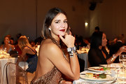Margherita Missoni went all out with the sparklies at the 2012 amfAR Milano dinner, wearing layers of chunky diamond cuff bracelets with her beaded dress.