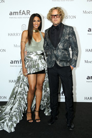 Ciara's Roberto Cavalli mullet skirt added major drama to her look.