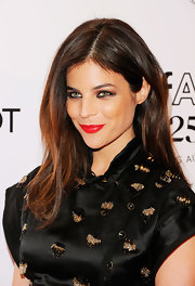 Julia Restoin-Roitfeld opted for a simple straight hairstyle when she attended the amfAR New York Gala.