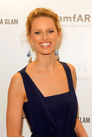 Karolina Kurkova attended the amfAR Gala in NYC wearing a pair of Copacabana drop earrings featuring over 170 sapphire briolettes set in over 100 pave diamonds and 18-carat white gold.