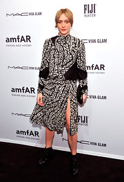 Chloe kept up her funky streak in black-and-white '90s-esque dress at the amfAR NY Gala.