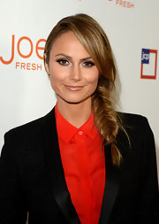 Stacy Keilber rocked a side fishtail braid while attending the JCPenney launch of Joe Fresh.