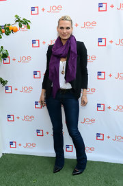 Molly stuck to a basic pair of slim-fit jeans for her look at the JcPenny + Joe Fresh event.