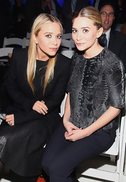 Ashley Olsen's top at the JCP launch event was made of luxe fur.