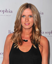 Nicky Hilton opted for a wavy 'do at the lia sophia party in Hollywood.