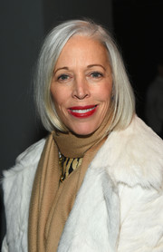 Linda Fargo attended the Rag & Bone Fall 2016 show wearing her signature silver bob.