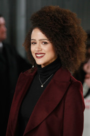 Nathalie Emmanuel attended the European premiere of 'xXx: Return of Xander Cage' wearing her signature afro.
