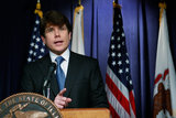 Illinois Governor Rod Blagojevich Addresses The Media