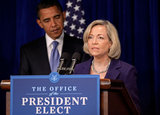 Nancy Killefer in Obama Makes Announcement At His DC Transition Office