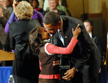 Sasha Obama in Barack Obama Holds Whistle Stop Train Tour From Philadelphia To D.C.