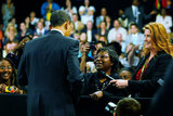 Henrietta Hughes in President Obama Holds Town Hall Meeting In Fort Myers, Florida