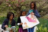 Malia Obama in The White House Hosts Its Annual Easter Egg Roll