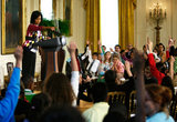 Michelle Obama Welcomes Kids To White House On Take Your Child To Work Day