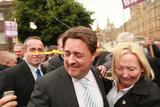 Nick Griffin in Newly Elected BNP MEP's Hold A Press Conference