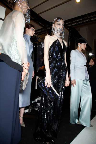 Armani Privé at Couture Fall 2012 (Backstage)