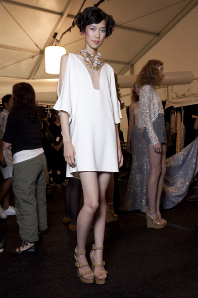 Badgley Mischka Spring 2011 - Backstage