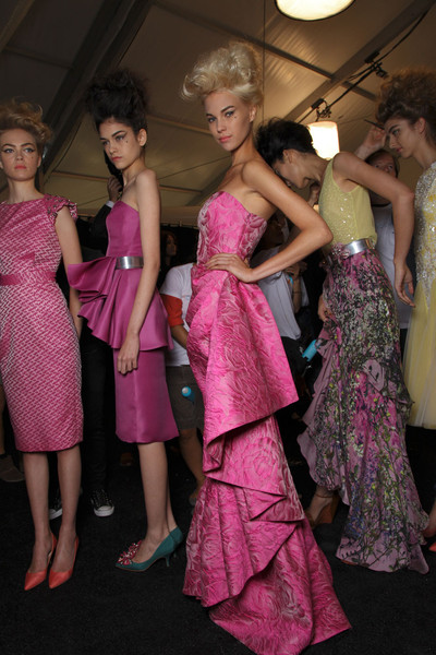 Badgley Mischka Spring 2012 - Backstage