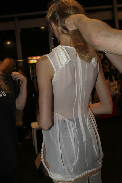 Bora Aksu at London Spring 2012 (Backstage)