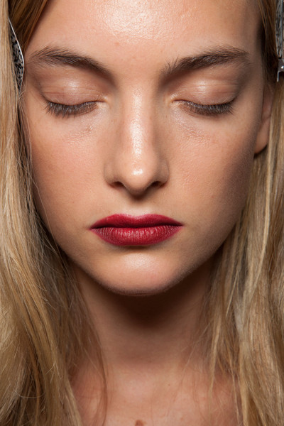 Backstage at Burberry Spring 2013