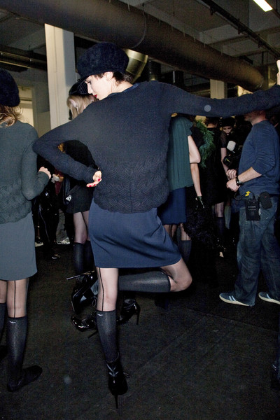 Emporio Armani Fall 2009 - Backstage