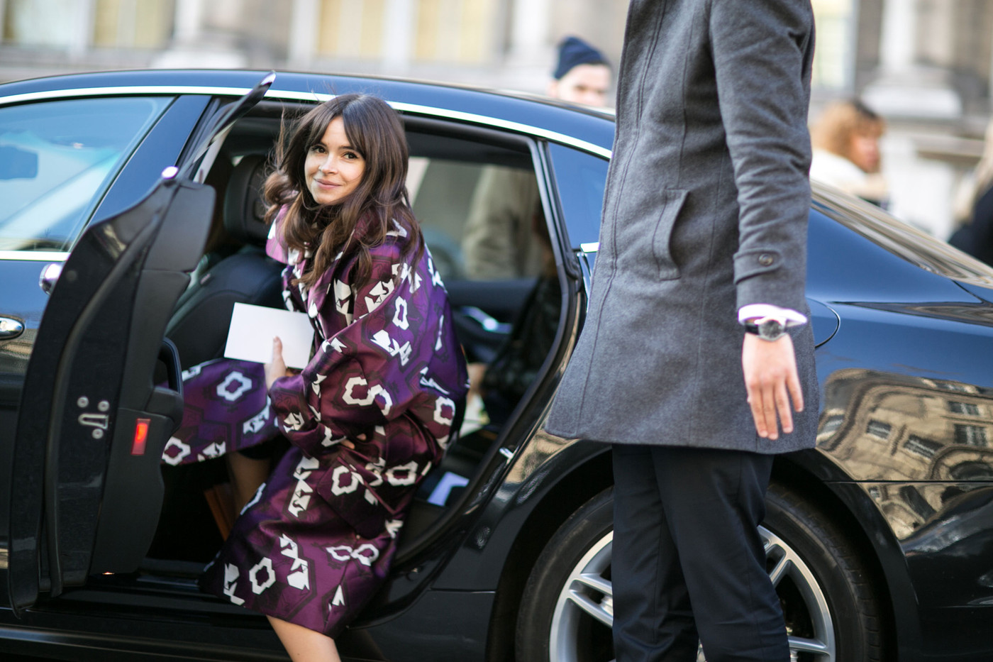 Plum Perfect Best Street Style At Paris Fashion Week Fall 2015 Stylebistro