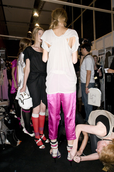 Gaspard Yurkievich at Paris Spring 2009 (Backstage)