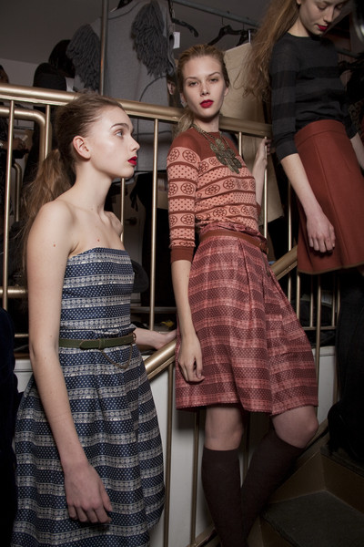 Karen Walker Fall 2010 - Backstage