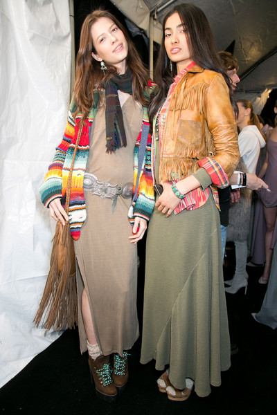 Ralph Lauren Collection Bks Bis at New York Fall 2014 (Backstage)